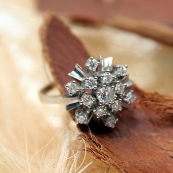 Brillant Ring aus 585er Weißgold