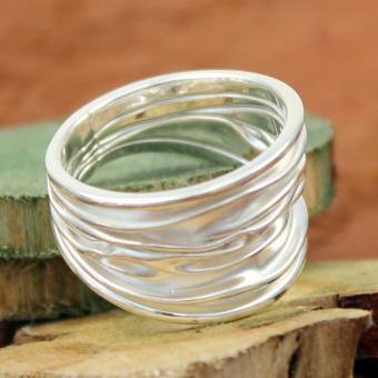 AAGAARD Damen Ring Sterling weiß GR 55