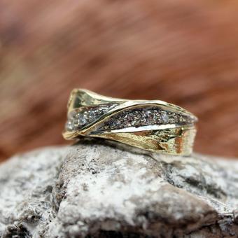 Gelbgold Brillant Ring 585er