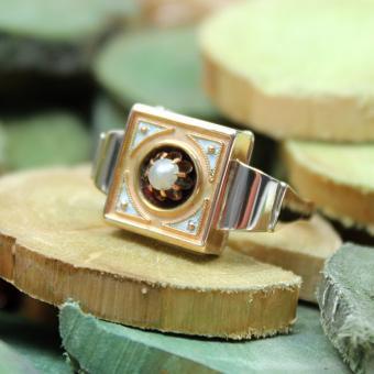 Antiker Biedermeier - Ring 333er