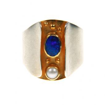 Ring Silber vergoldet 101/0460