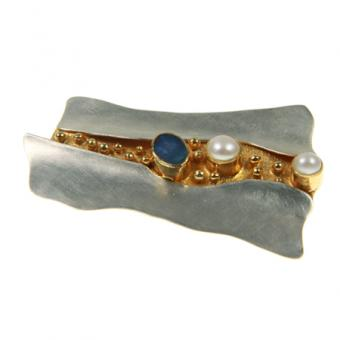 Brosche / Anhänger Silber vergoldet 105/0460