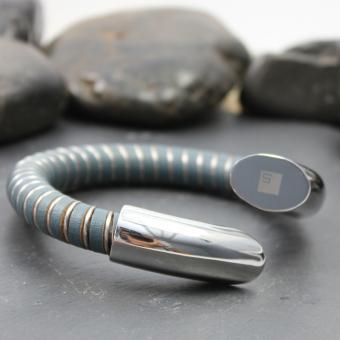 Street MOOV Armband Leder / Stahl 316L / B187CABLG