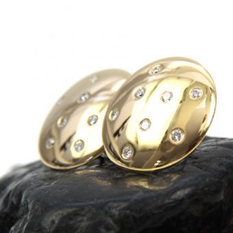 Ohrstecker mit Clip aus 750er Gold mit ca. 1,1 ct