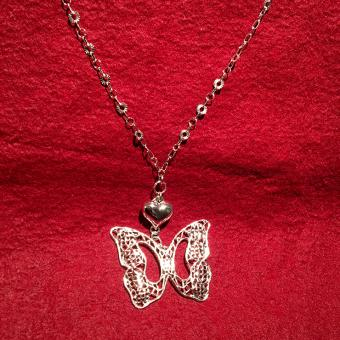 Collier -DNA Jewels- Herz/Schmetterling