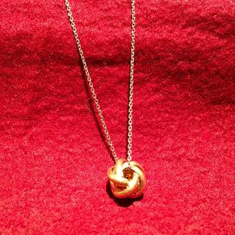 Collier - Cavalli- Knoten 925er rotgold vergoldet