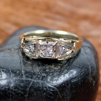 Antiker Diamant Ring 585e