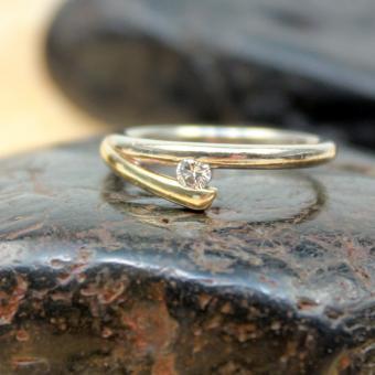 Solitär Brillant Ring 585er GR 55
