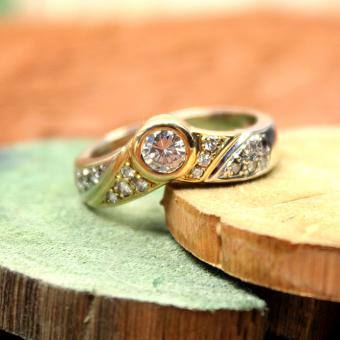 Brillant Ring 750er Gelb- Weißgold mit circa 0,48Ct