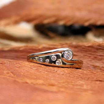 Diamant Ring Gelb- Weißgold 585er