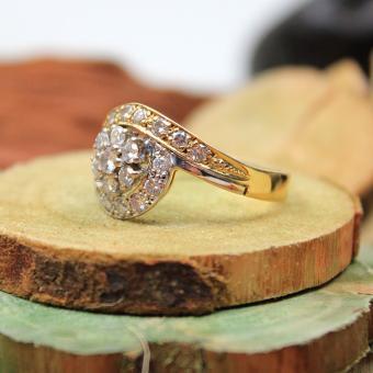 Brillant Ring 750er Gelb- Weißgold