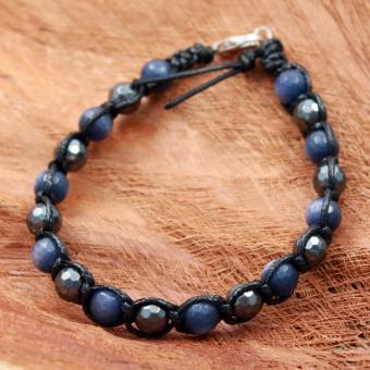 Shamballa Armband Onyx/Achat/Hematit