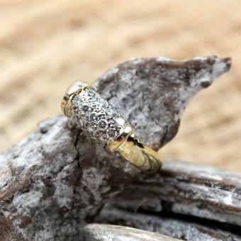 Diamant Ring 750er GG/ WG