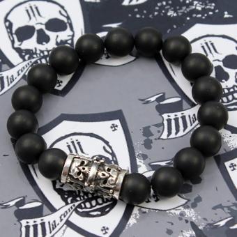 JJJ LA Armband Walze small Skulls Onyx GR S