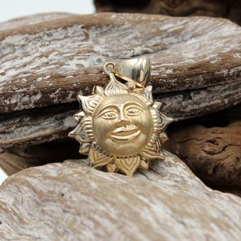 Gelbgoldanhänger 585er lachende Sonne