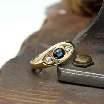 Herren Brillant Saphir Ring 750er GG