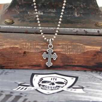 "JJJ LA Halskette 500 mm ""Cross"" klein 925er Silber"