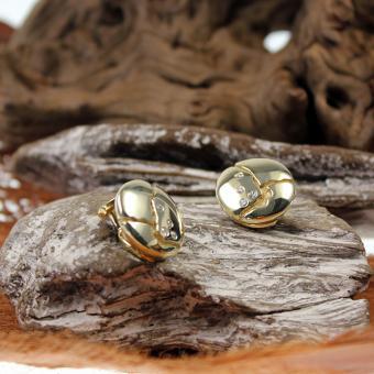 Lüth Bijoux Diamanten Ohrclips 585er Gelbgold