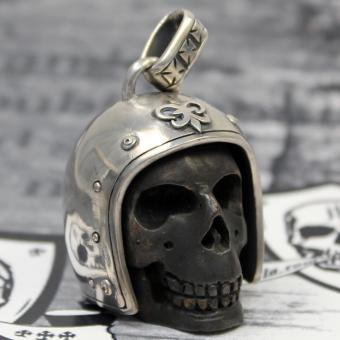 "JJJ LA Anhänger ""Big Biker Skull"" 925er Silber Bronze"