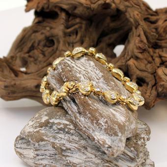 Gelbgold Armband mit Herzmotiv und Brillanten