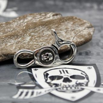 "JJJ LA Schlüssel Karabiner ""Silver Skull"""