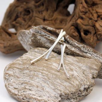 Fossil Silber Ohrstecker 925er