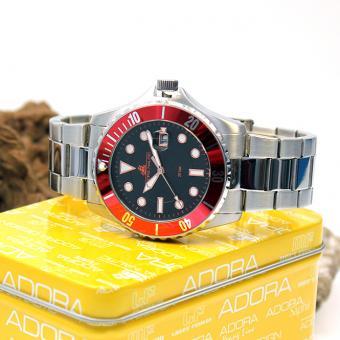 Adora Nautic Herren Armbanduhr AN2987 schwarz/rot 20 bar Wasserdicht