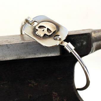 Gazpocho Handcrafted Silver 925er Bracelet/ Skull