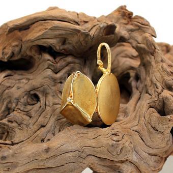 Medaillon Anhänger 585er Gelbgold mit Diamant