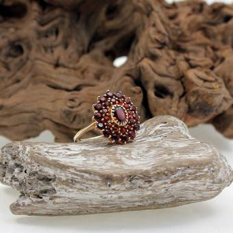 Granat Ring 585er Gelbgold