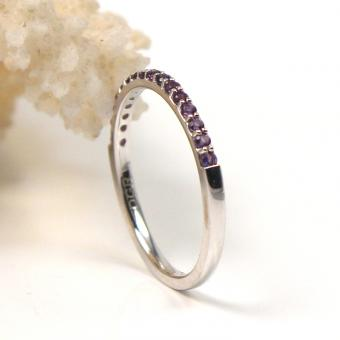 Amethyst Ring 750er Weißgold GR 56