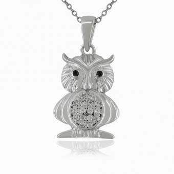 "Sterling Silber Anhänger ""OWL"" BP06355"