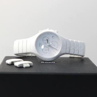 Rado Diastar True Chronograph White Ceramic Mens Watch Quartz Calendar 01.541.0832.3.070