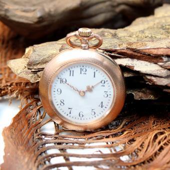 antike Damentaschenuhr 585 Gold um 1900