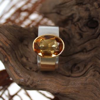 Silber Ring mit Zitrin