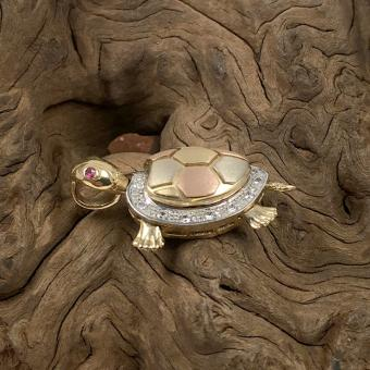 Anhänger Schildkröte 585 Gold
