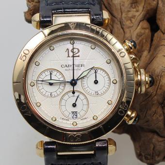 Cartier Pasha Automatik Chronograph 18 k Gold