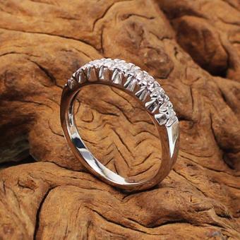 Halb-Memoire Ring Weißgold 750