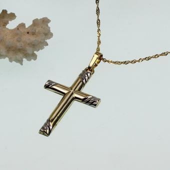 Collierkettchen mit Kreuzanhänger