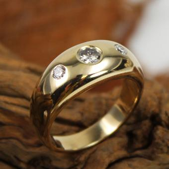 Rubin Brillant Ring 585 Gelbgold
