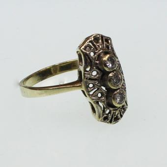 "Brillant Ring 585 Gelbgold  im Stil des ""Art Deco"""