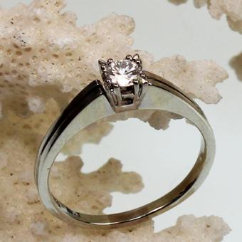 Solitär Brillant Ring 750 Weißgold