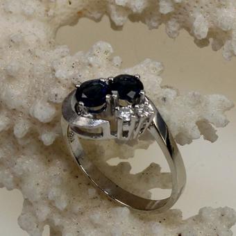 Saphier Brillant Ring Weißgold 585
