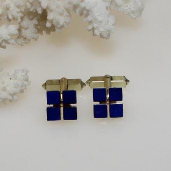 Manschettenknöpfe mit Lapis Lazuli Gelbgold 585
