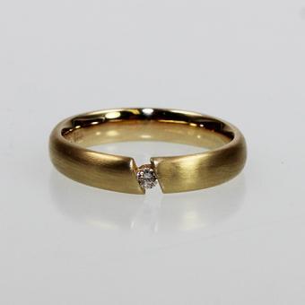 Solitär Brillant Ring