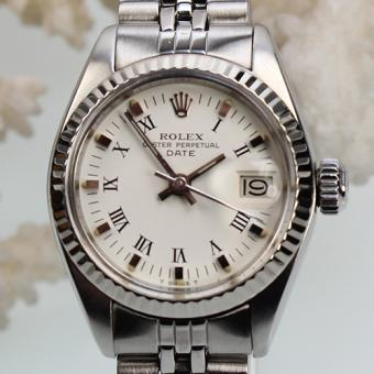 Rolex Date Stahl-Weißgold