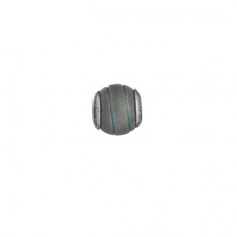 Lovelinks Bead Black/Blue Stripes 2180004