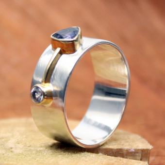 Ring Silber vergoldet 101/2080 GR 55