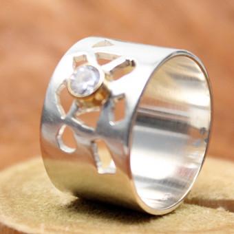 CARA Ring Silber vergoldet 101/2150 GR 54/55