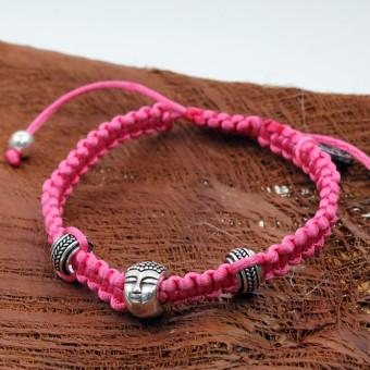 La Plata Armband Buddha Pink 180 mm